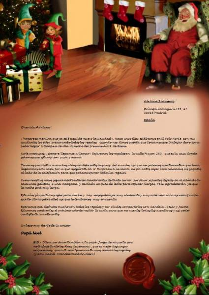 Letter from santa claus 2017 personalized letter from santa see all of the features of the letter from santa spiritdancerdesigns Image collections